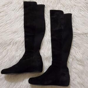 Stuart Weitzman Black Suede Boots Sw68376